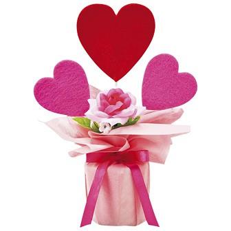 バレンタインラッピングポット