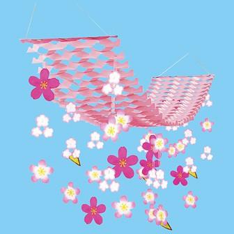 バリュー舞い桜プリーツハンガー