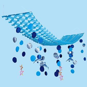 バリューイルカ水滴プリーツハンガー