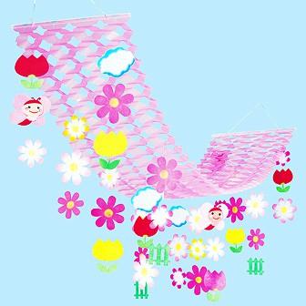 フラワー蝶々プリーツハンガー