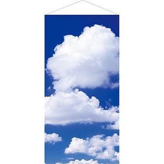 雲タペストリー(防炎加工)
