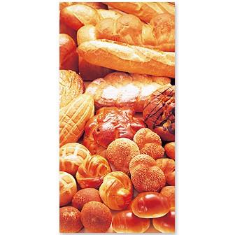 食材タペストリー(パン)(防炎加工)