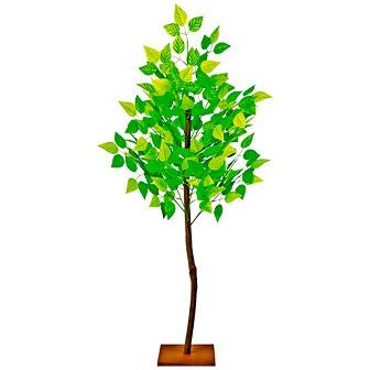 新緑若葉立木 (高さ:124cm)
