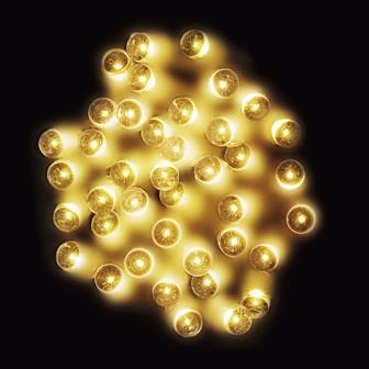 防滴200球LEDライト(ゴールド)
