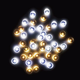 防滴200球LEDライト(ホワイト/ゴールド)