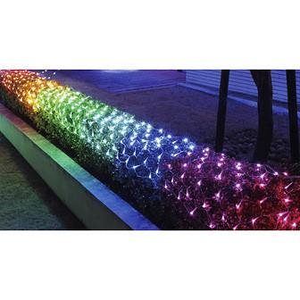 防滴320球LEDロングネットライト(レインボー)