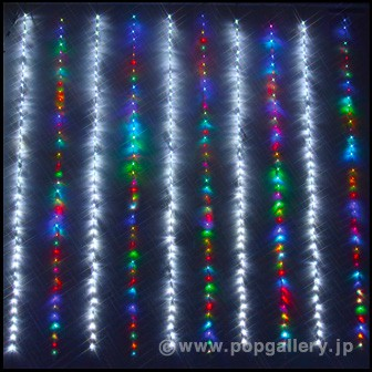 LEDナイアガラカーテンライト(ホワイト/レインボー)