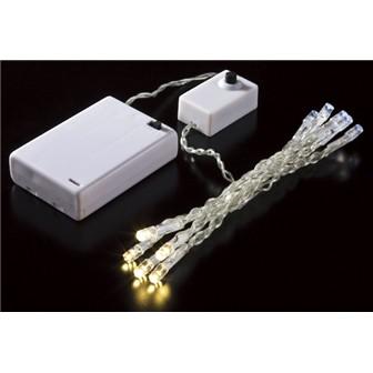 10球タイマー付LEDライト(ホワイト/ゴールド)