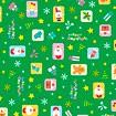 包装紙 カラフルオーナメント(緑)
