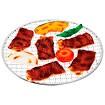 食品サンプル 焼肉&野菜セット(網付)