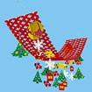 クリスマスナイトプリーツハンガー