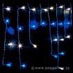 防滴98球LEDつららライト(ホワイト/ブルー)